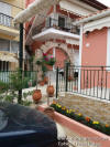 The outside of the house with apartments and private parking in centre of Parga in a quiet area