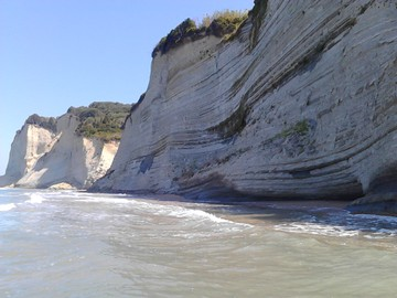 The San Stefanos famous beach of Corfu island